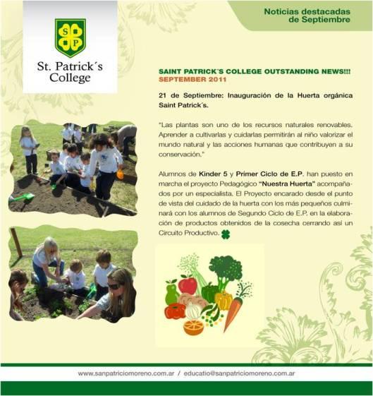 Huerta del Colegio San Patricio