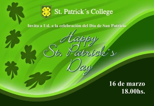 Invitación día de San Patricio 2012
