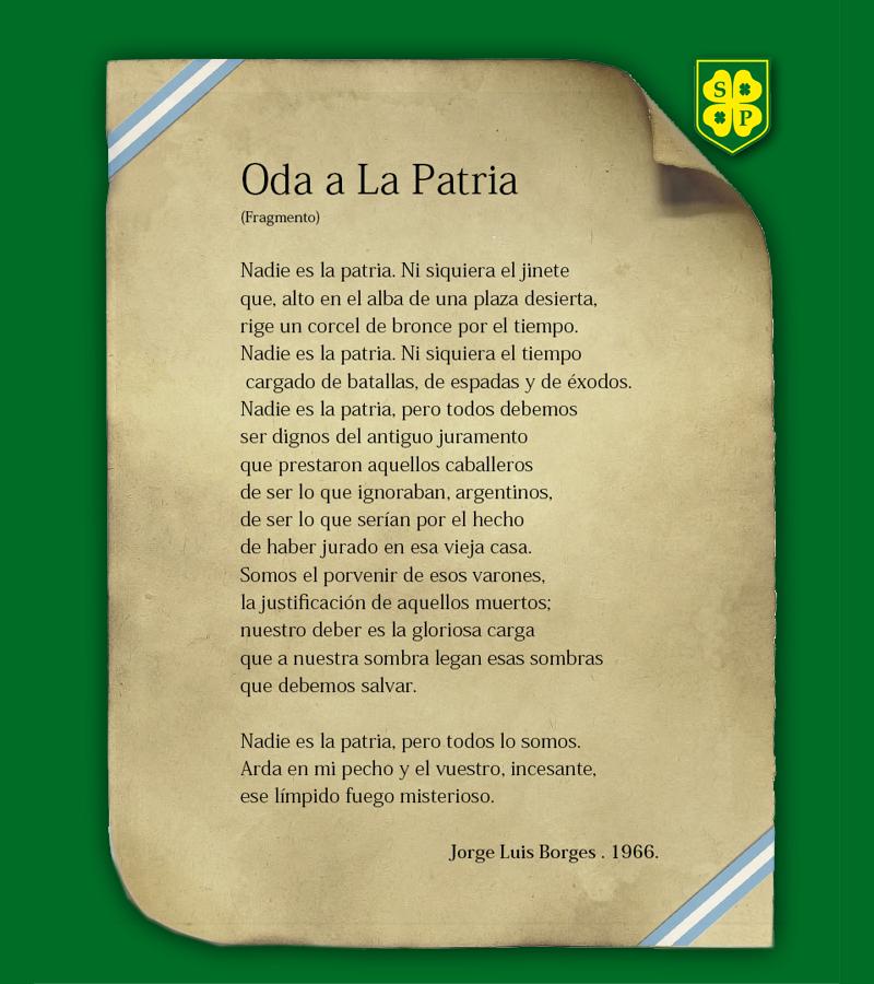 Oda a la Patria | Colegio San Patricio