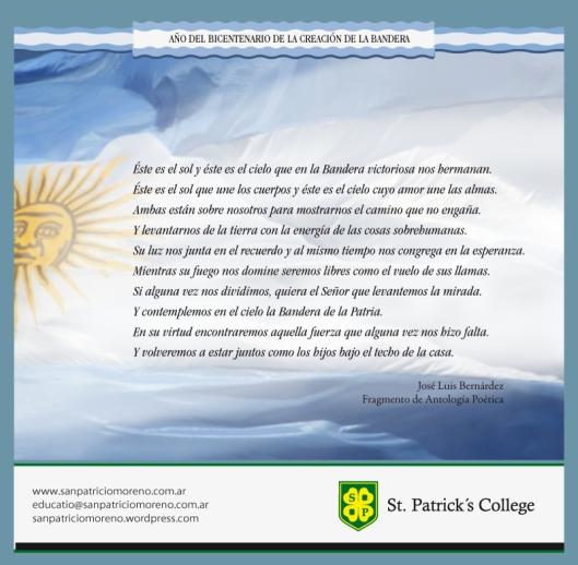 Fragmento de Antología Poética sobre la Bandera
