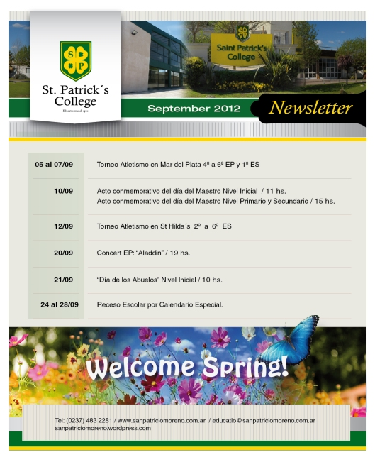 NEWSLETTER 2012 SEPTIEMBRE