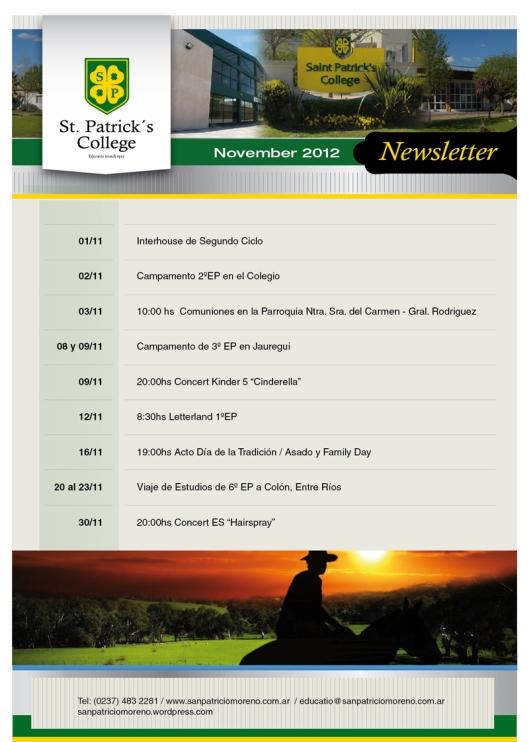 Newsletter San Patricio Noviembre