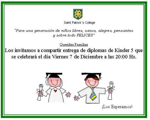 Entrega de Diplomas Kinder San Patricio