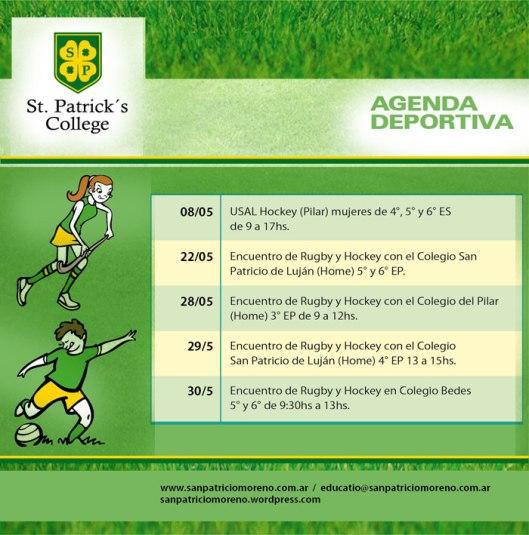 Agenda Deportiva Mayo 2013 San Patricio
