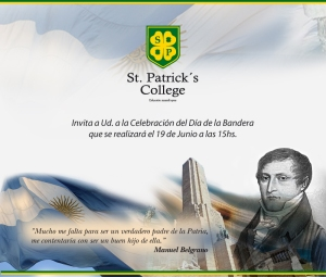 Invitación Día de la Bandera San Patricio