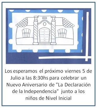 Invitación 9 de Julio San Patricio