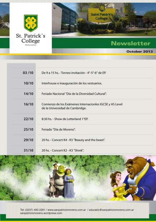 Newsletter Octubre San Patricio 2013