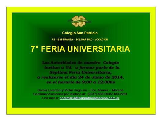 Feria Universitaria S Patricio 2014