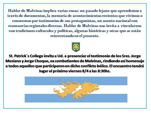 invitacion charla Malvinas